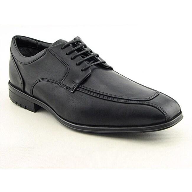 Rockport Men's Fairwood Moc Front Black Dress Shoes Wide