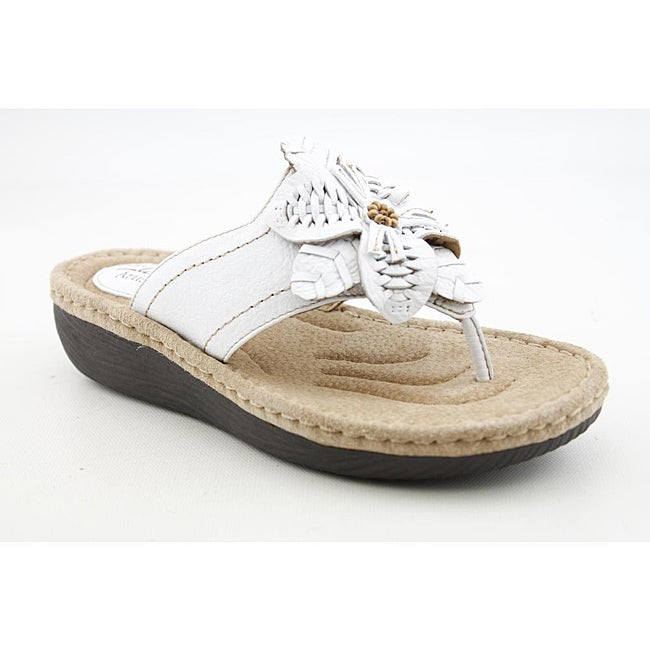 Clarks Artisan Women's Latin Palm White Sandals