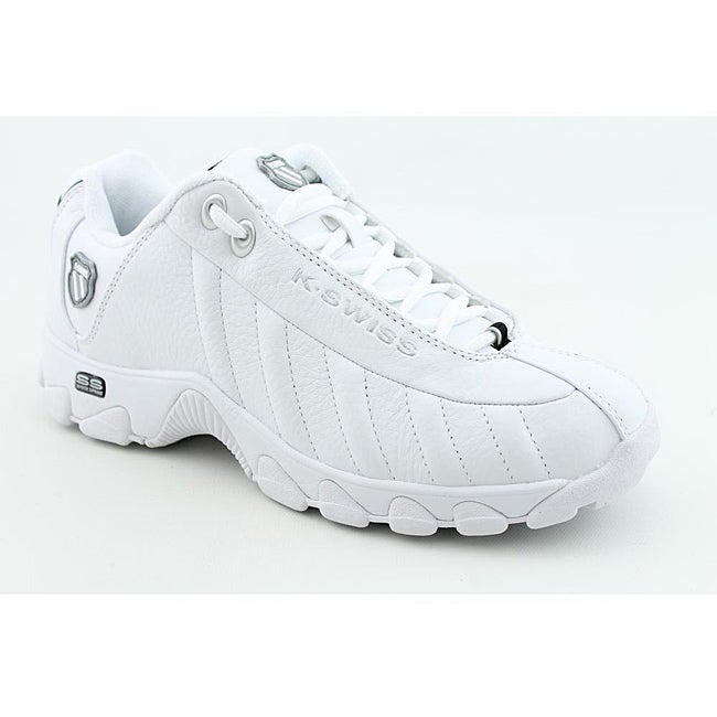K Swiss Men's ST329 White Casual Shoes Wide (Size 9.5)