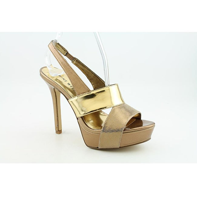 Nine West Women's Fair Game Gold Dress Shoes