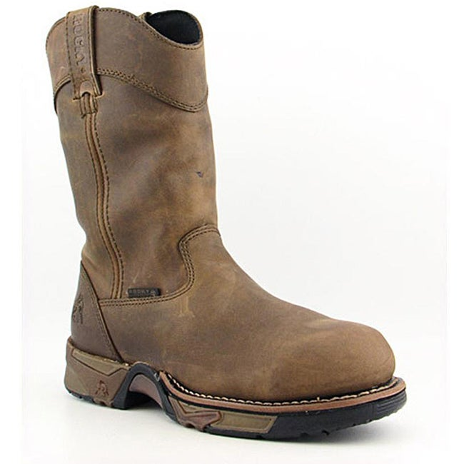 "Rocky Men's 11"" Pull-on Aztec Brown Boots Wide (Size 8)"