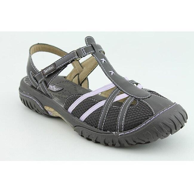 Jambu Women's Cherry Mesh Brown Sandals