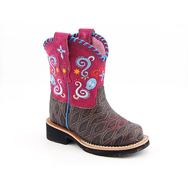 Ariat Girl's Showbaby Fiesta Pink Boots