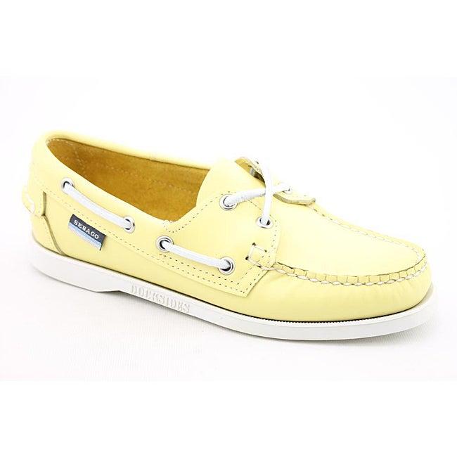 Sebago Women's Docksides Yellow Casual Shoes Wide