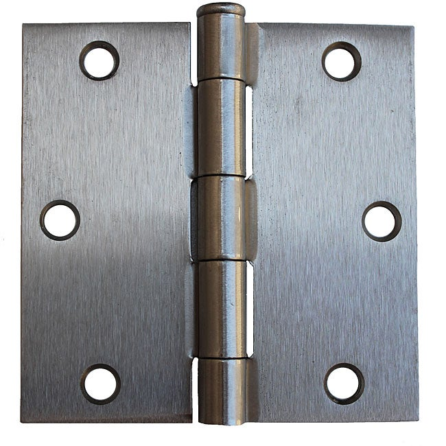 GlideRite 3.5-inch Square Corner Satin Nickel Door Hinges (Pack of 12)