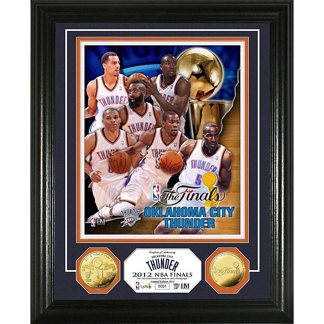 Oklahoma City Thunder 2012 NBA Finals Team Force Gold Coin Photo Mint