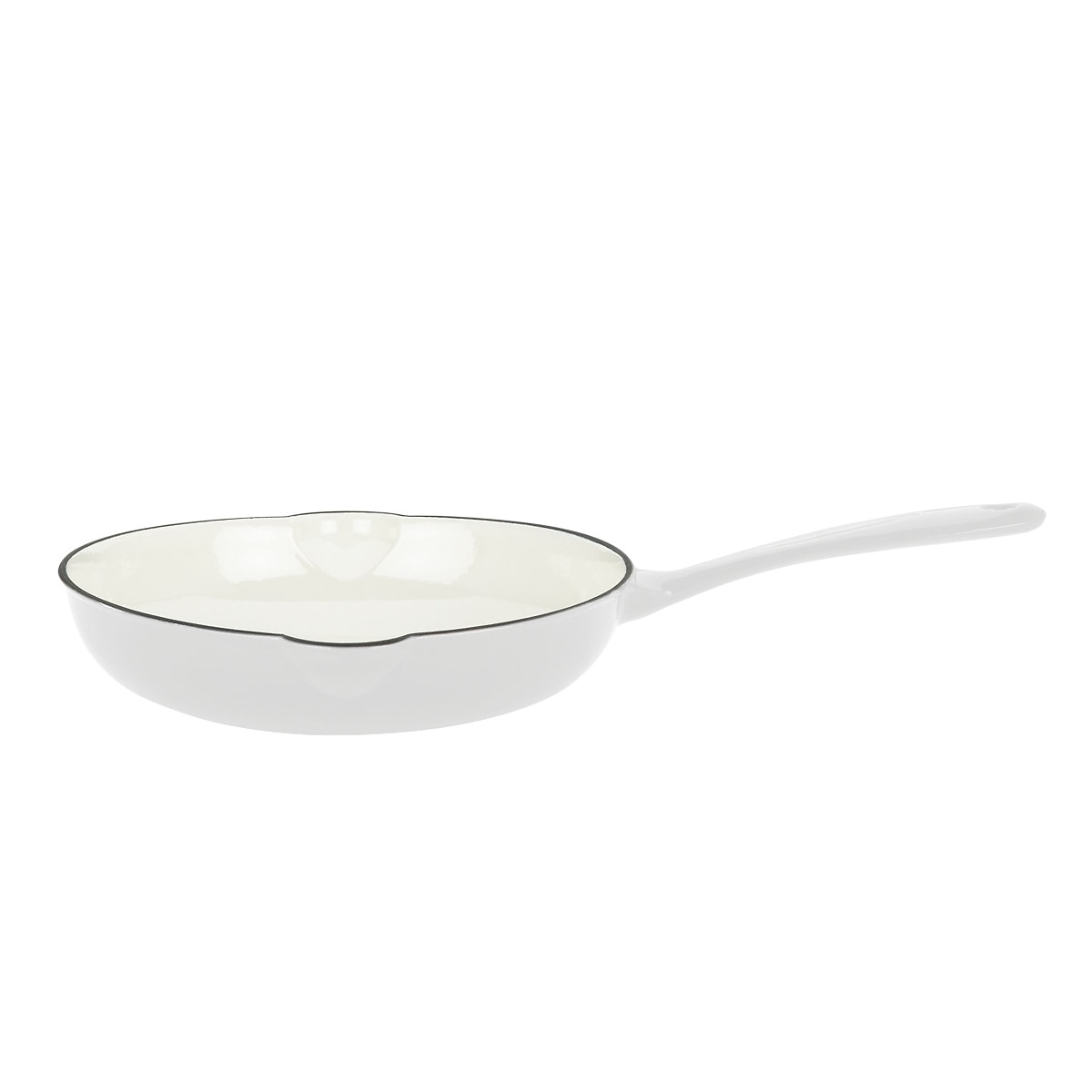 Mario Batali by Dansk Classic White 14-inch Cast Iron Open Saute Pan