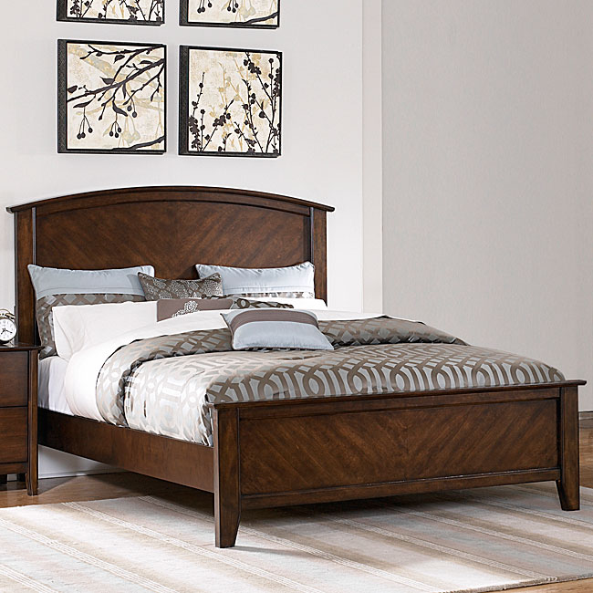 Nurmes Warm Cherry King-size Transitional Low Profile Bed