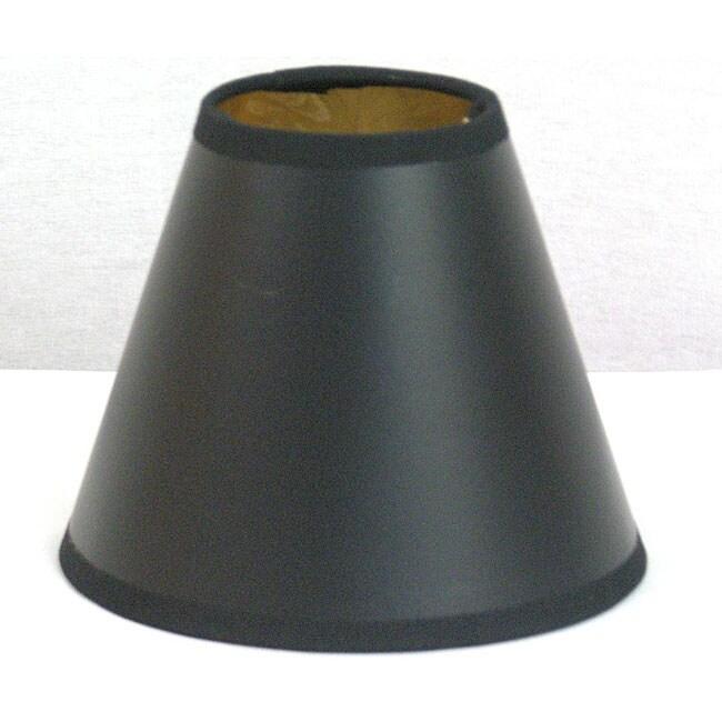 Black Paper Hardback Mini Shade with Gold Foil Liner Set of 3