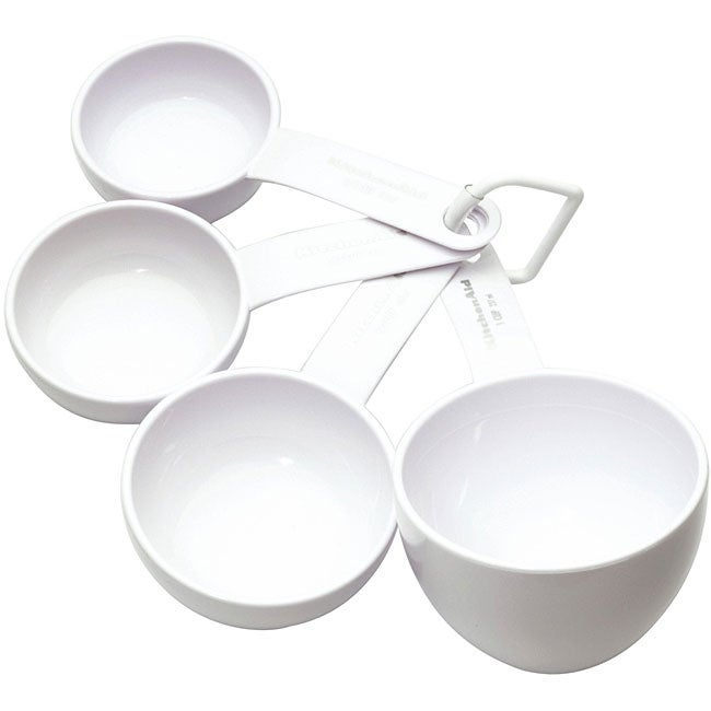 Kitchen Aid White Measuring Cups (Set of 4)