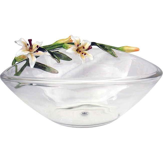 Cristiani Limited Edition Crystal Bowl with Lily