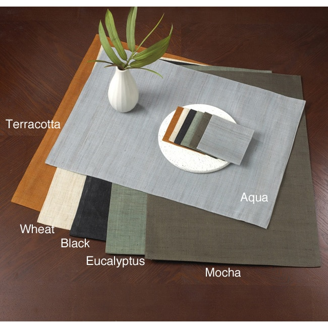 Plain Ramie Placemats or Coasters (Set of 4)