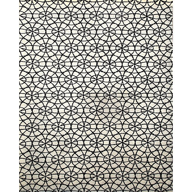 Alliyah Handmade Ivory New Zealand Blend Wool Rug (5' x 8')