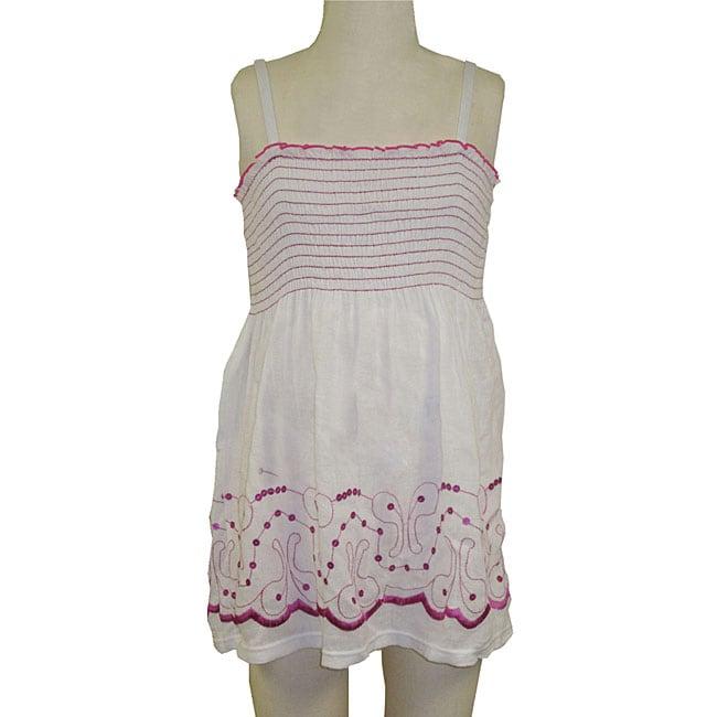 Lisabelle Girls' Smocked Cotton Cover-Up