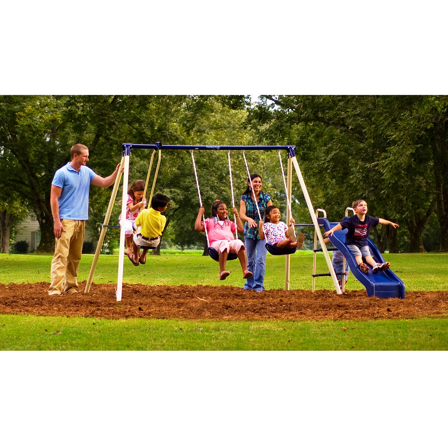 Flexible Flyer Swingin' Fun Swing Set