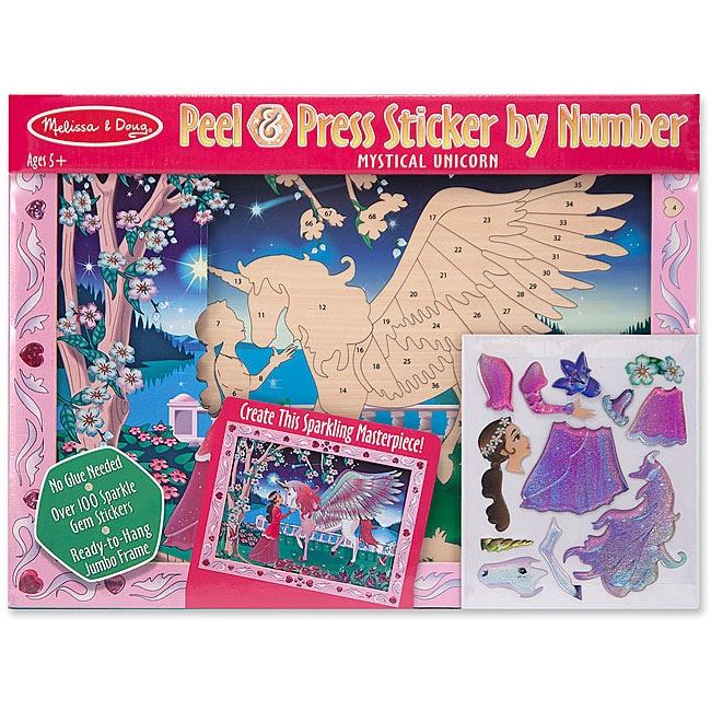 Melissa & Doug Mystical Unicorn Peel & Press Sticker by Number