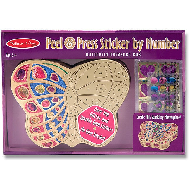 Melissa & Doug 'Butterfly Treasure Box' Peel and Press Sticker by Number