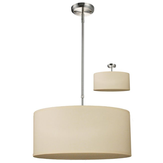 albion off white drum shade 20 inch lighting fixture. Black Bedroom Furniture Sets. Home Design Ideas