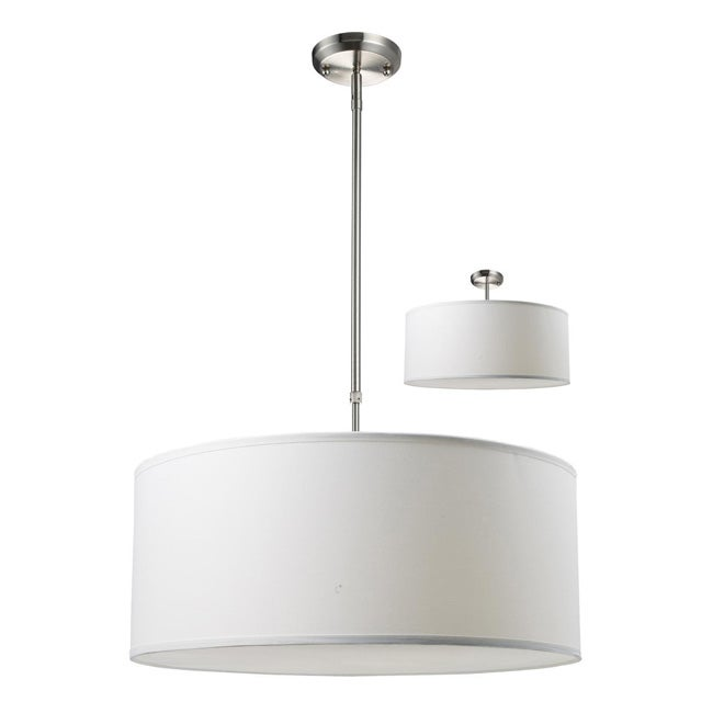 albion white drum shade 24 inch lighting fixture. Black Bedroom Furniture Sets. Home Design Ideas