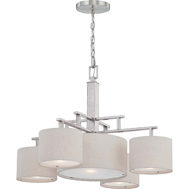 Percussion Brushed Nickel 5-light Chandelier