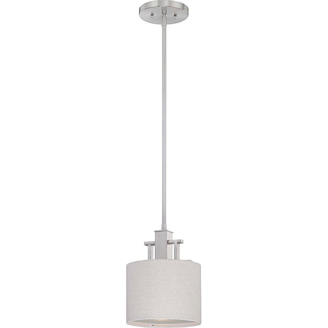 Percussion Brushed Nickel 1-light Mini Pendant