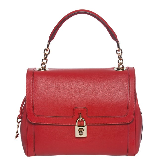 Dolce & Gabbana Red Leather Bowler Bag