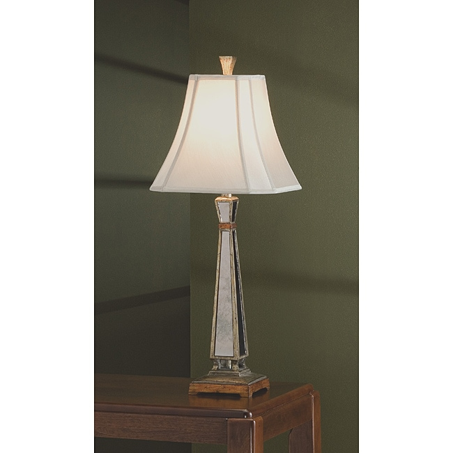 Mirror and Gold 31.5-Inch High Table Lamp