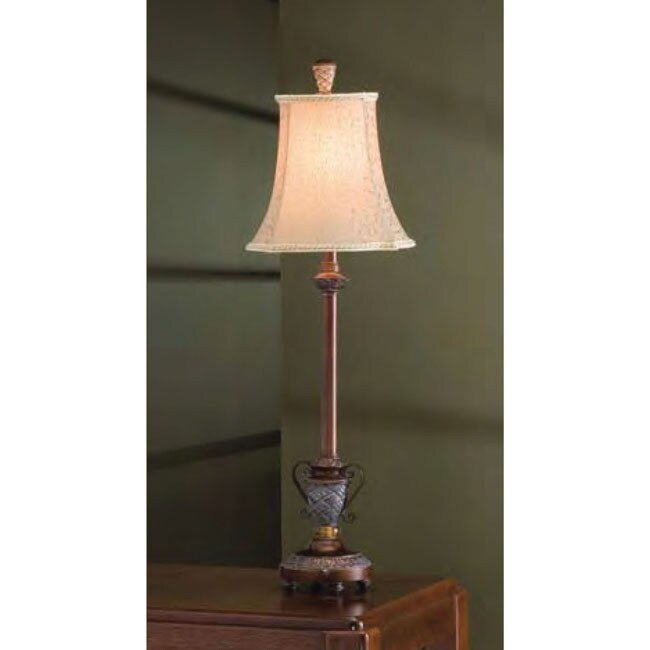 Bronze & Silver Traditional 32-inch Buffet Lamp