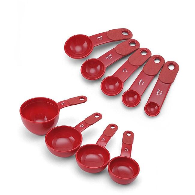 KitchenAid Red Soft Handle Measuring Cups Set
