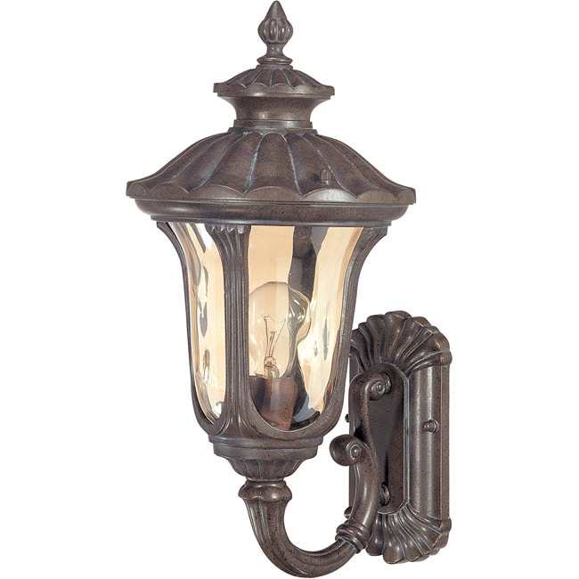 Beaumont 1 Light Arm Up Fruitwood Wall Lantern