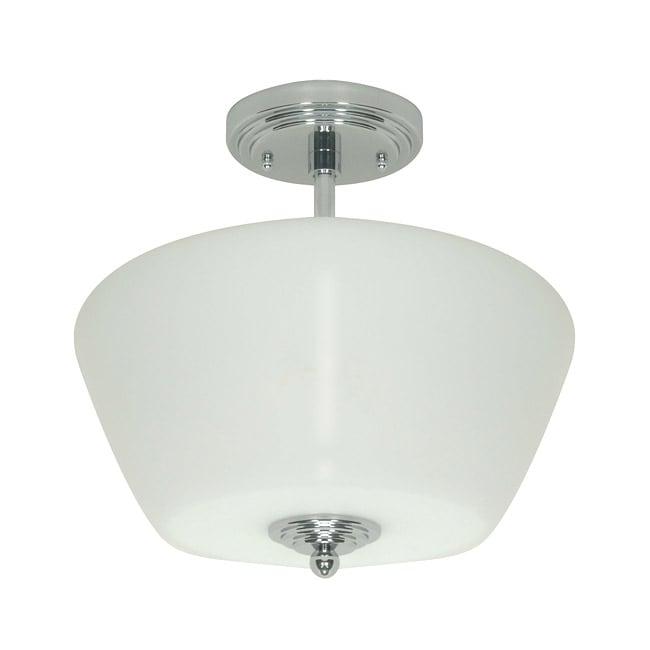 Galileo 3-light Polished Chrome Semi-flush Mount Light Fixture