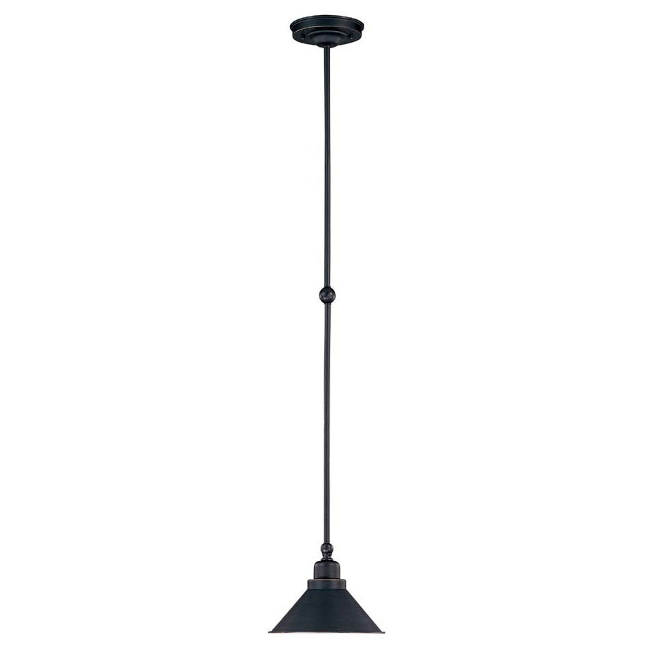 Bridgeview 1 Light Mission Dust Bronze Mini Pendant