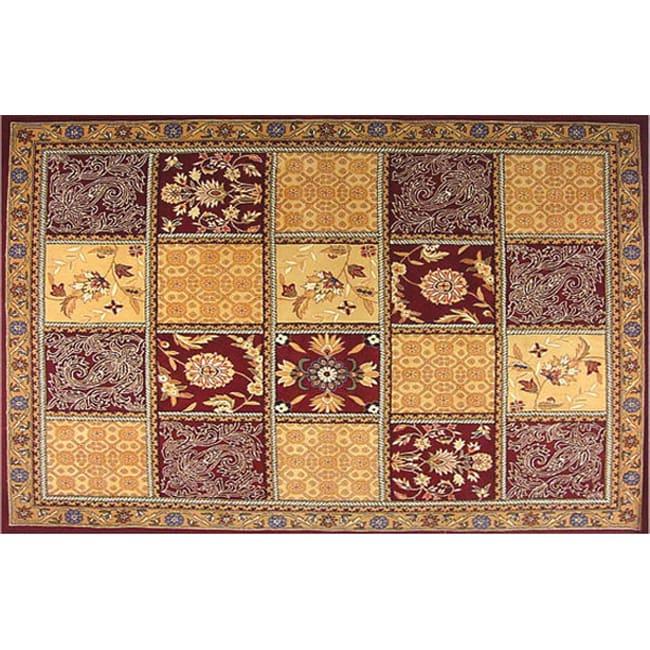 Persian Tile Wool Rug (5' x 8')