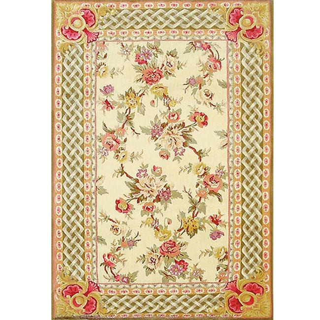 Noonday Florets Wool Silk Rug (5.3' x 8.3')