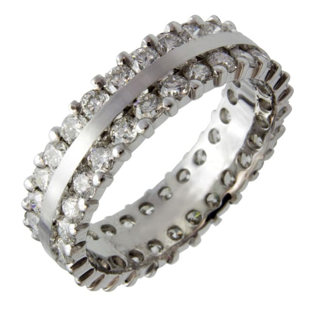 14k White Gold 2 1/4ct TDW Diamond Eternity Band (G-H, SI1-SI2)