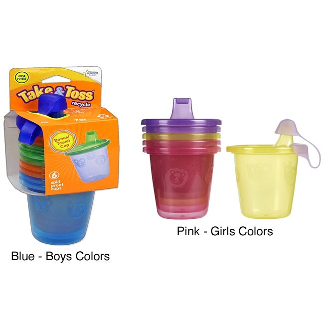 The First Years Take & Toss 7-ounce Spill-proof Cups (Pack of 6)