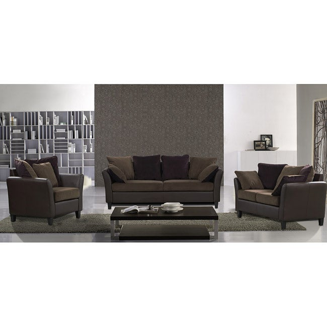 Tucana 3-piece Two-tone Sofa Set