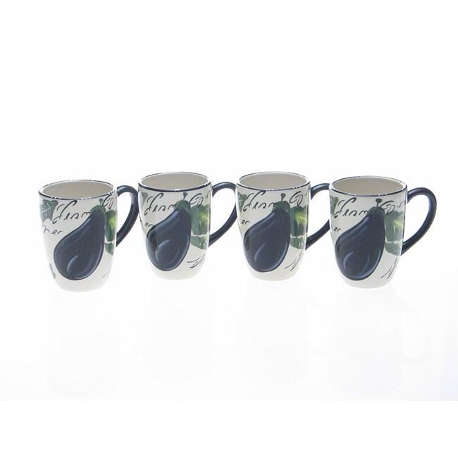 Certified International Melanzana 20-ounce Mugs (Set of 4)