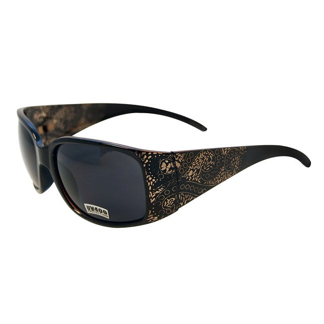 Women's Black Topaz Paisley Fashion Sunglasses