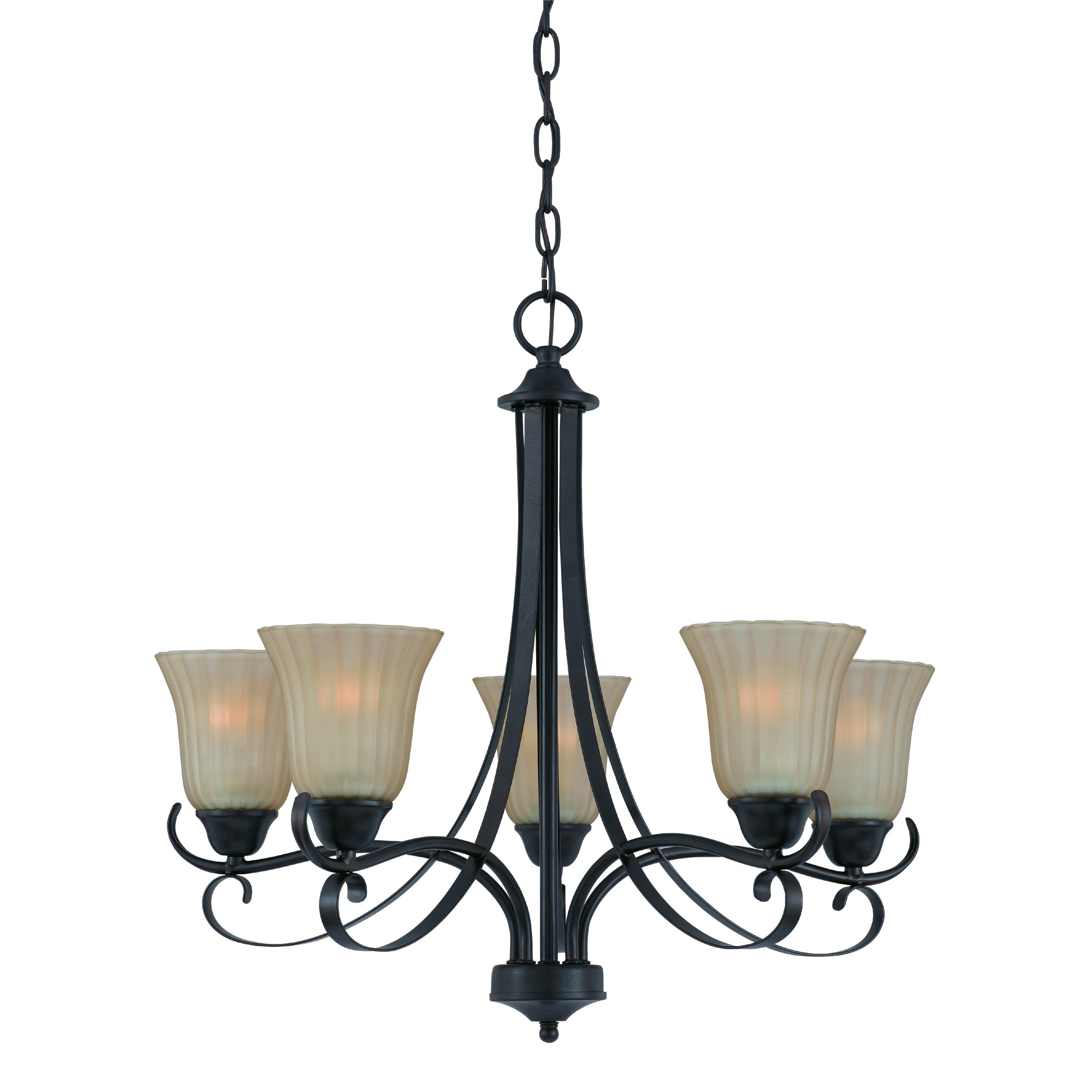 Traditional 5 light Chandelier in Bronze finish