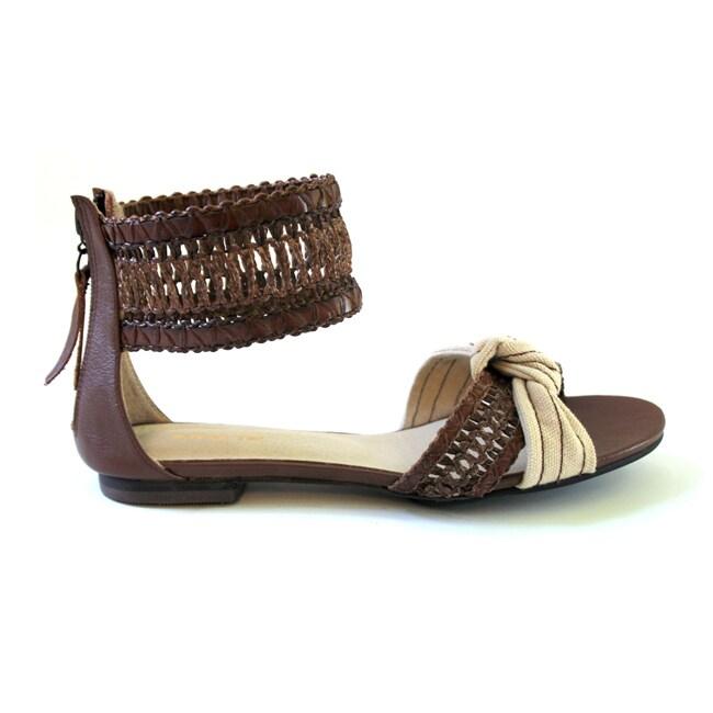 All Black Women's 'Woven Wrap' Gladiator Sandals