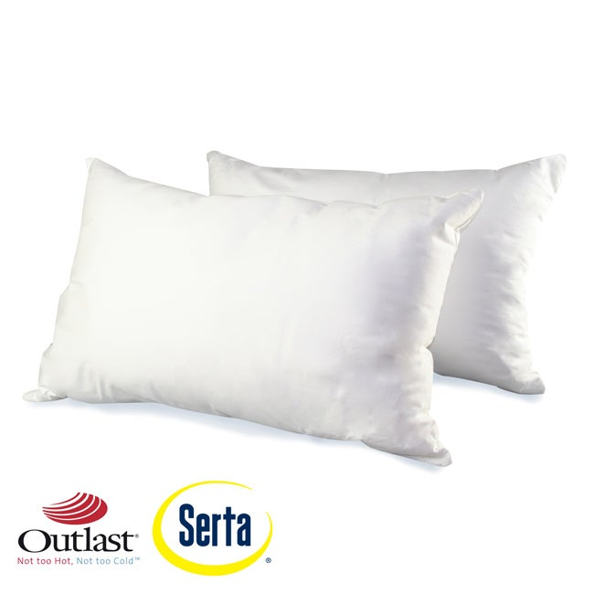 Serta Outlast 300 Thread Count Stain Resistant Down Alternative Pillow (Set of 2)