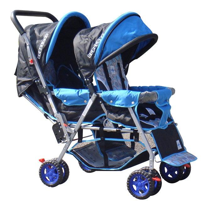 BeBeLove Tandem Stroller in Blue