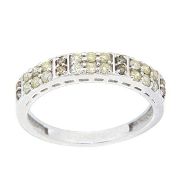10k White Gold 2/5ct TDW Brown Diamond Fashion Ring