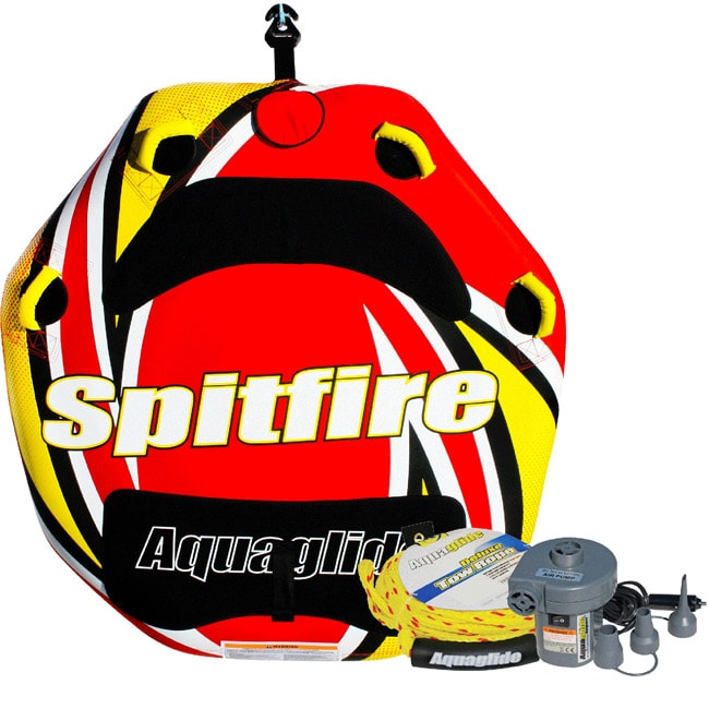 Aquaglide Spitfire QuickConnect Inflatable Towable Tube Package