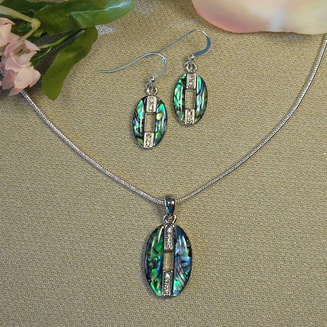 Jewelry by Dawn Abalone Necklace and Earring Set