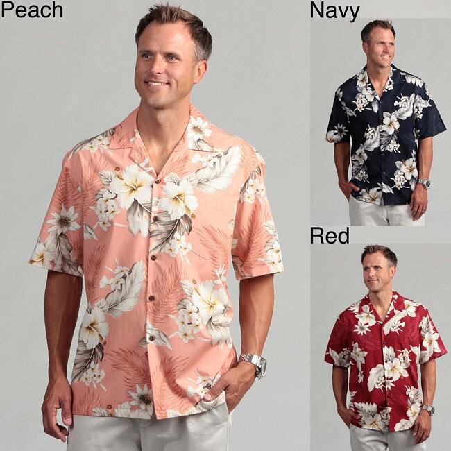 Pacific Legends Men's 'Hibiscus Dream' Aloha Shirt