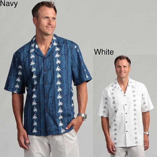 Pacific Legends Men's 'Palm Tree' Aloha Shirt