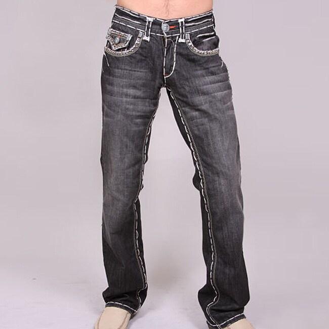 Laguna Beach Men's 'Long Beach' Black Wash Jeans