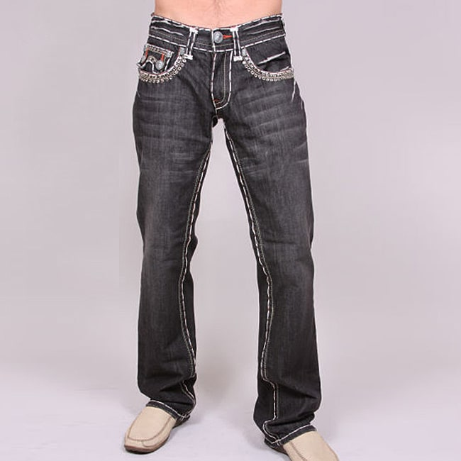 Laguna Beach Men's 'Sunset Beach' Black Wash Jeans
